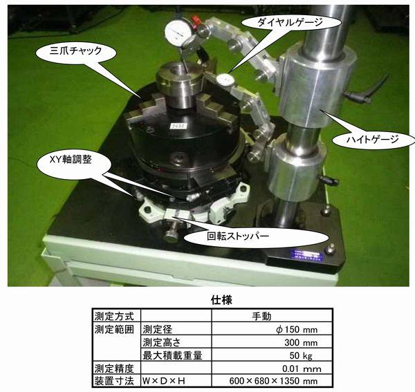 同軸度・同心度測定器