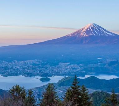 朝富士の絶景